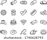 food thin line icons vector...