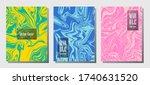graphic marble prints  vector... | Shutterstock .eps vector #1740631520