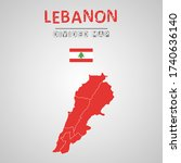 detailed map of lebanon with...   Shutterstock .eps vector #1740636140