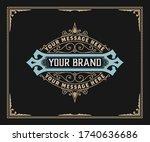 vintage logo or banner layout... | Shutterstock .eps vector #1740636686