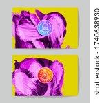 set of vector business card... | Shutterstock .eps vector #1740638930