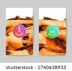 set of vector business card... | Shutterstock .eps vector #1740638933