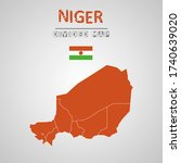 detailed map of niger with...   Shutterstock .eps vector #1740639020
