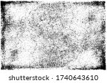 grunge black and white texture. ... | Shutterstock .eps vector #1740643610