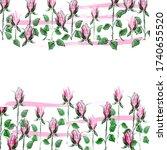 floral template. vector... | Shutterstock .eps vector #1740655520