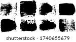 black paint brush strokes ... | Shutterstock .eps vector #1740655679