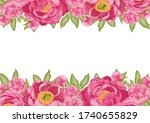 horizontal background with pink ... | Shutterstock .eps vector #1740655829