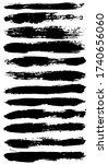 black paint brush strokes ... | Shutterstock .eps vector #1740656060