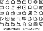 essentials icons in line style... | Shutterstock .eps vector #1740657290