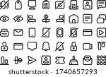 essential icons in line style... | Shutterstock .eps vector #1740657293