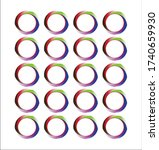 colorful circle pattern design... | Shutterstock .eps vector #1740659930