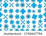 floral pattern design for...   Shutterstock .eps vector #1740667796