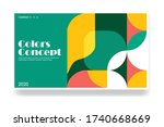 vector set of colorful shapes... | Shutterstock .eps vector #1740668669