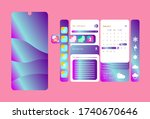 creative ui  ux  gui screens... | Shutterstock .eps vector #1740670646