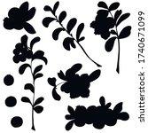 berries  black silhouette ...   Shutterstock .eps vector #1740671099