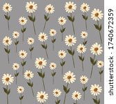 daisy flower pattern textile...   Shutterstock .eps vector #1740672359
