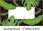 tropical design background.... | Shutterstock .eps vector #1740672503