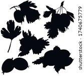 berries  black silhouette ...   Shutterstock .eps vector #1740675779
