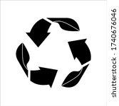 black recycling logo vector...   Shutterstock .eps vector #1740676046
