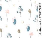 seamless pattern . cute small...   Shutterstock .eps vector #1740677369