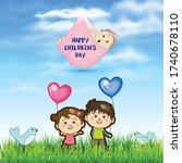 children's day background...   Shutterstock .eps vector #1740678110