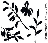 berries  black silhouette ...   Shutterstock .eps vector #1740679196