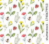 Summer Wildflower Seamless...