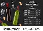 wine list vector menu template... | Shutterstock .eps vector #1740680126