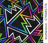 abstract neon geometric...   Shutterstock .eps vector #1740681776