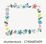 banner  invite with floral... | Shutterstock .eps vector #1740685409