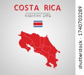 detailed map of costa rica with ...   Shutterstock .eps vector #1740703289
