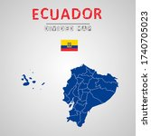 detailed map of ecuador with...   Shutterstock .eps vector #1740705023