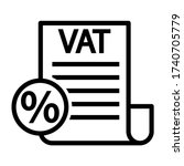 vat taxes outline vector icon. ... | Shutterstock .eps vector #1740705779