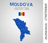 detailed map of moldova with...   Shutterstock .eps vector #1740705869