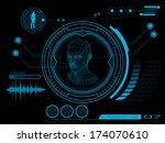 sci fi futuristic user... | Shutterstock .eps vector #174070610