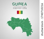 detailed map of guinea with...   Shutterstock .eps vector #1740710216