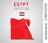 detailed map of egypt with...   Shutterstock .eps vector #1740713759