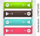 modern business origami style... | Shutterstock .eps vector #174071450
