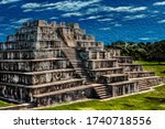 Temple Pyramid With...