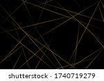 abstract black with gold lines  ...   Shutterstock .eps vector #1740719279