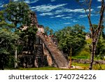 Steep Temple Pyramid In The...