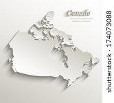 canada map card paper 3d... | Shutterstock .eps vector #174073088