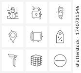 set of 9 simple line icons of...   Shutterstock .eps vector #1740731546