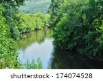 france  the vezere river in... | Shutterstock . vector #174074528