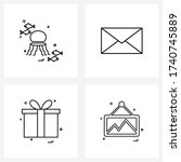 set of 4 ui icons and symbols...