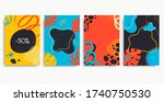 collection of colorful... | Shutterstock .eps vector #1740750530