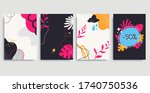 collection of colorful... | Shutterstock .eps vector #1740750536