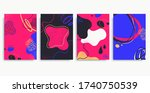 collection of colorful... | Shutterstock .eps vector #1740750539