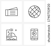 set of 4 ui icons and symbols...