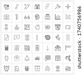 ui set of 49 basic line icons...